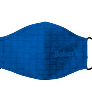 Baker's Blue pattern face mask