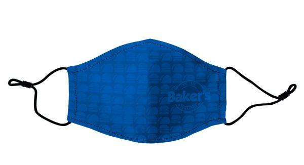 Baker's Blue pattern face mask